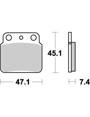 Brakepad Nitro MOTO-MASTER 095221