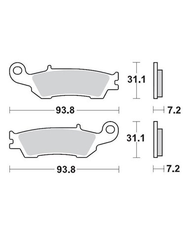 Brake Pad Sinter Race Mx MOTO-MASTER 094922