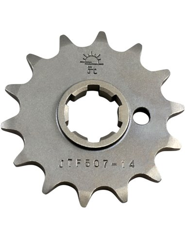 JTF507.14 FRONT REPLACEMENT SPROCKET 14 TEETH 520 PITCH NATURAL STEEL