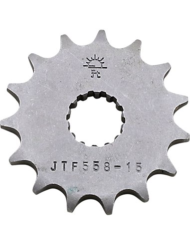 JTF558.15 FRONT REPLACEMENT SPROCKET 15 TEETH 428 PITCH NATURAL STEEL
