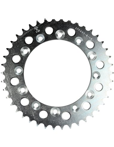 JTR245/2.42 REAR REPLACEMENT SPROCKET 42 TEETH 520 PITCH NATURAL C49 HIGH CARBON STEEL