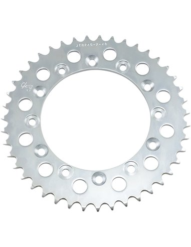 JTR245/2.43 REAR REPLACEMENT SPROCKET 43 TEETH 520 PITCH NATURAL C49 HIGH CARBON STEEL