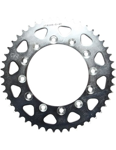JTR245/2.47 REAR REPLACEMENT SPROCKET 47 TEETH 520 PITCH NATURAL C49 HIGH CARBON STEEL