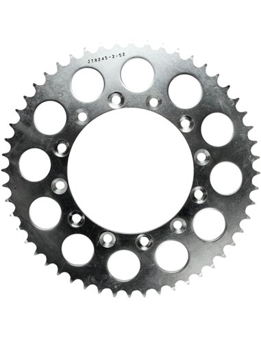 JTR245/2.52 REAR REPLACEMENT SPROCKET 52 TEETH 520 PITCH NATURAL C49 HIGH CARBON STEEL