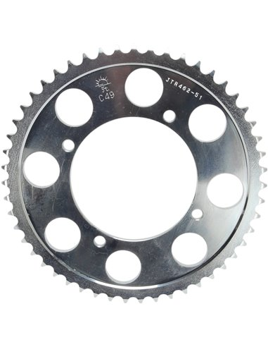 JTR462.51 REAR REPLACEMENT SPROCKET 51 TEETH 428 PITCH NATURAL C49 HIGH CARBON STEEL
